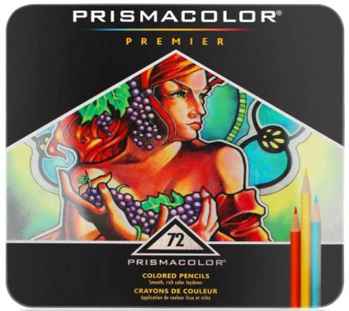 Premier Colored Pencils, Soft Core, 72 Pack
