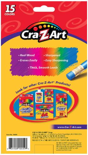 Cra-Z-Art Erasable Colored Pencils