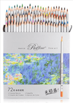 Marco Raffine Colored Pencils Large-Sized Pack—72 Pencils