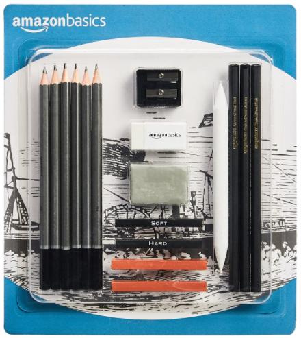 Amazon Basics Sketch and Drawing Art Pencil Kit