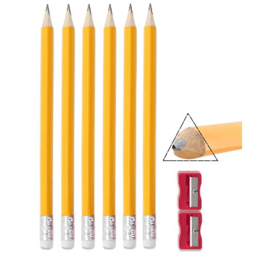 Emraw Pre Sharpened Triangular Pencils for Preschoolers