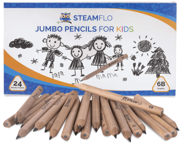 STEAMFLO Kids Pencils for Preschoolers