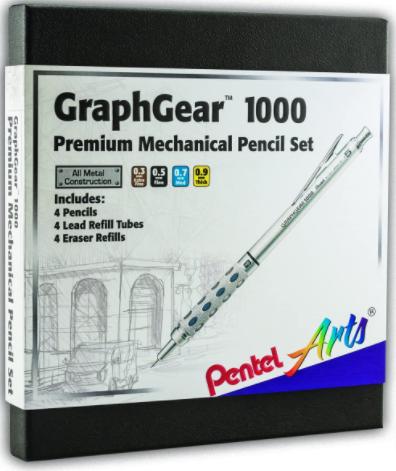 Pentel Arts GraphGear 1000 Premium Pencils